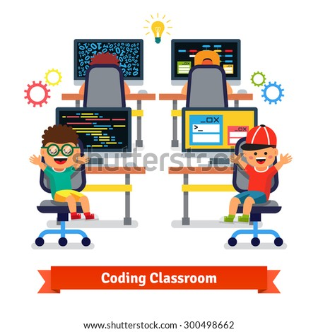 kids learning to code and