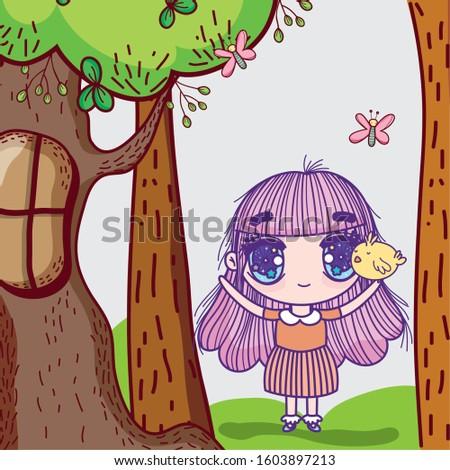 kids  little girl anime cartoon