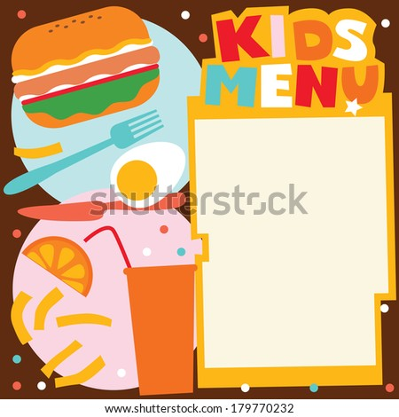 Vector Images, Illustrations and Cliparts: Kids menu template ...