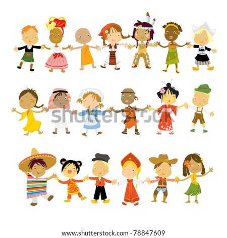 kids multicultural traditional