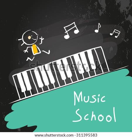 kids music school  piano