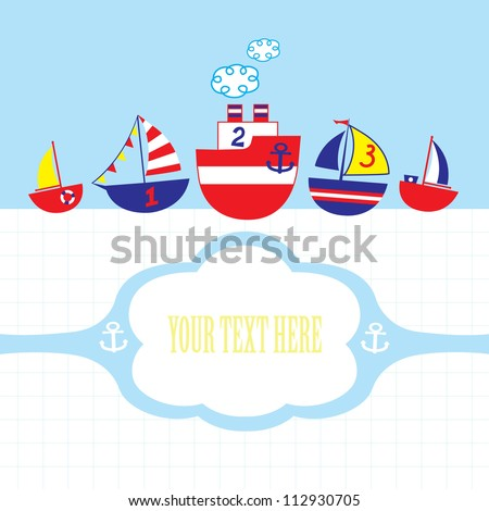 Kids nautical vector card
