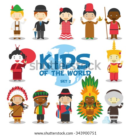 kids of the world vector
