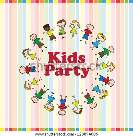 kids party over colors