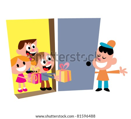 kids party welcome guests