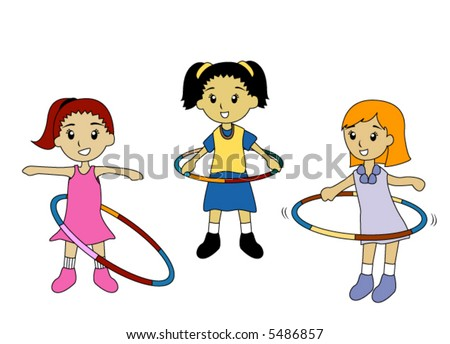 Pictures Of Kids Playing. stock vector : Kids Playing