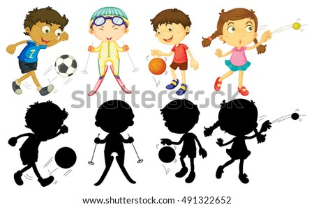 kids playing sports in
