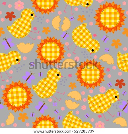 kids seamless pattern with