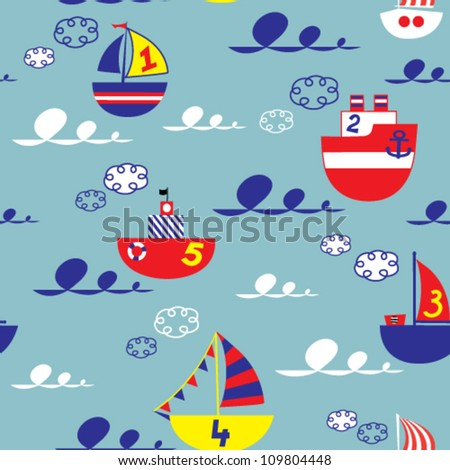 kids seamless vector pattern