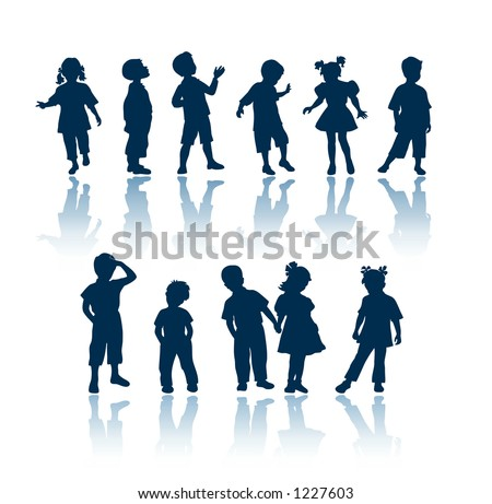 "Kids silhouettes. To see all my silhouettes, search by keywords: ""agb-svect"" or ""agb-srastr"""