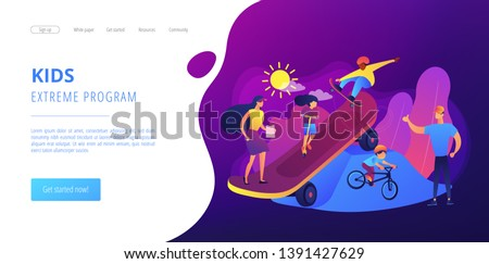 kids skateboarding and riding a