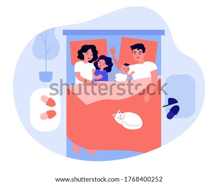 kids sleeping in parents bed