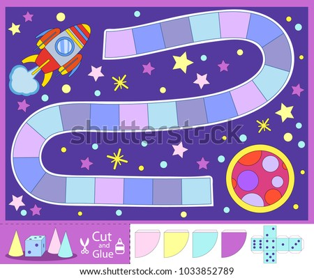 kids space board game with set