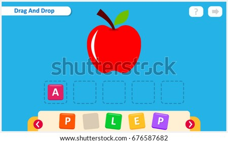 kids spelling game  learning fun