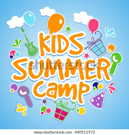 kids summer camp poster  banner
