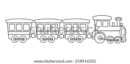 kids toy train coloring book