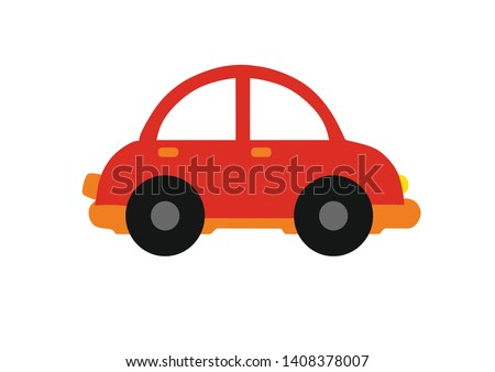 kids toys  red cartoon kid car