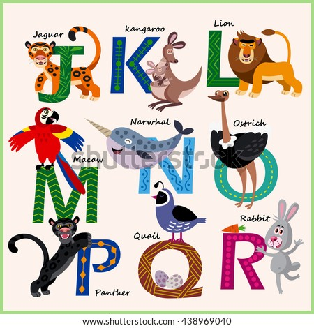 kids vector zoo alphabet with