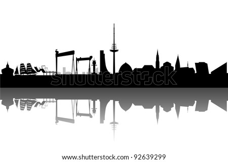 Kiel silhouette abstract