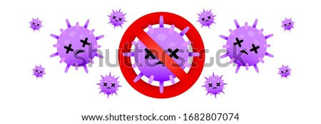 Kill COVID-19. Stop COVID-19. COVID-19 is die. COVID-19 vector, Coronavirus vector, and virus vector on white background. Kill cancer.