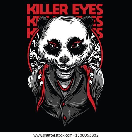 Killer Eyes Red Mafia Illustration