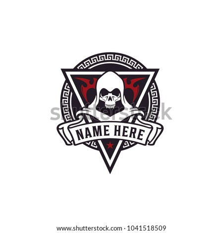 killer skull badge for game or