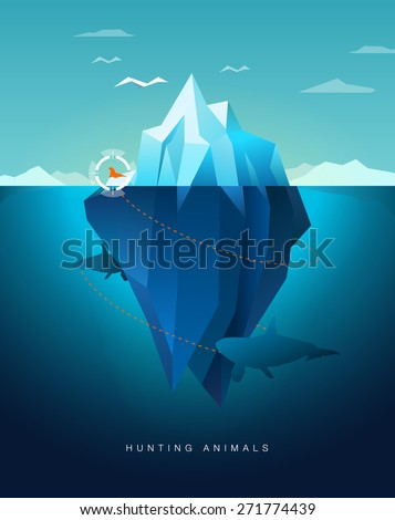 killer whale hunting seal