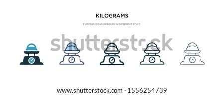 kilograms icon in different style vector illustration. two colored and black kilograms vector icons designed in filled, outline, line and stroke style can be used for web, mobile, ui