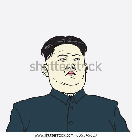 kim jong un caricature portrait