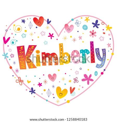 kimberly girls name decorative