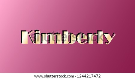 kimberly gold shining name