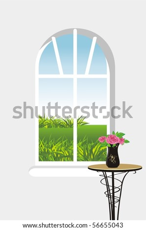 Kind from a window. Vector