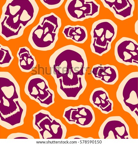 kind smiley skull abstract