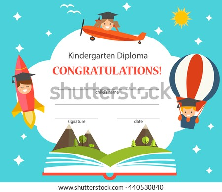 Royalty Free Stock Photos and Images: Kindergarten diploma with ...