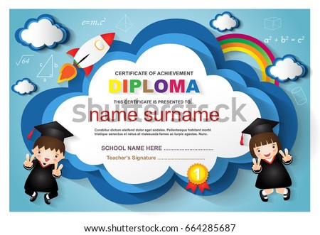 kindergarten diploma template vector download free vector art