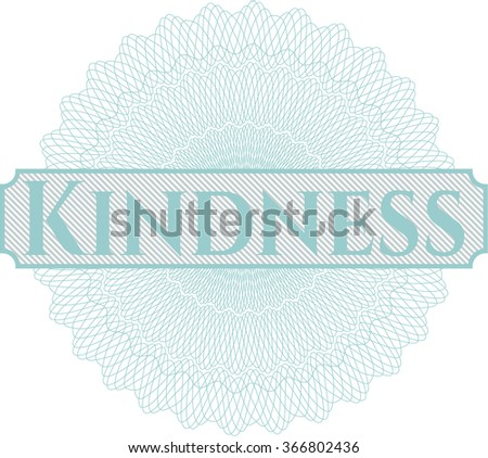 Kindness abstract rosette