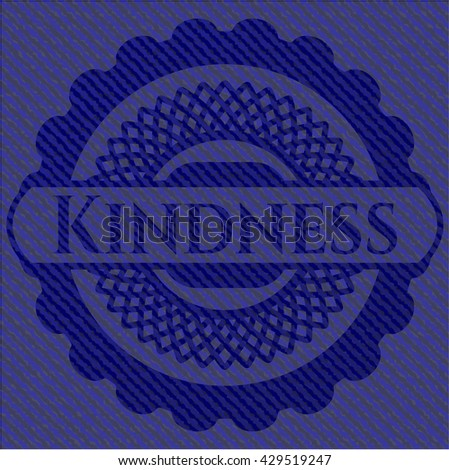 Kindness emblem with denim high quality background