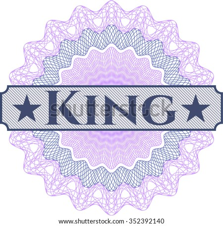 King abstract rosette