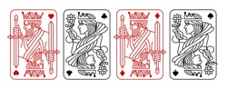 King and queen Black and Red Playing Card