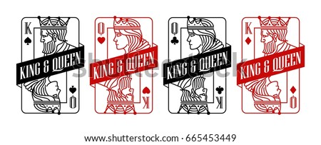 king and queen black and red