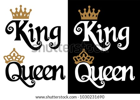 king and queen   couple design