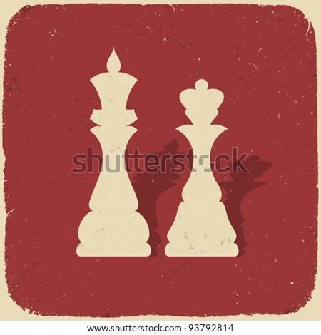 king and queen retro chess