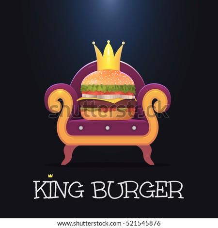 king burgervector burger on