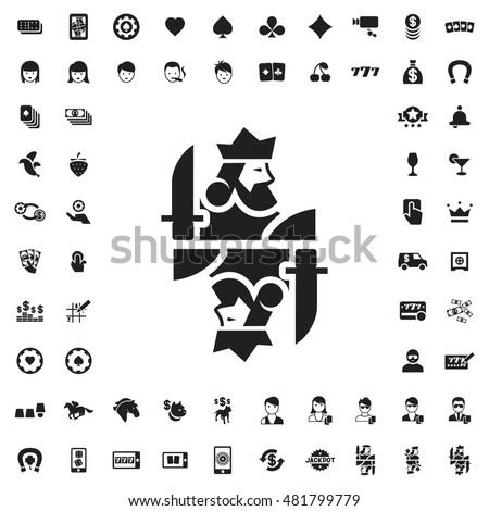 King card icon illustration isolated vector sign symbol