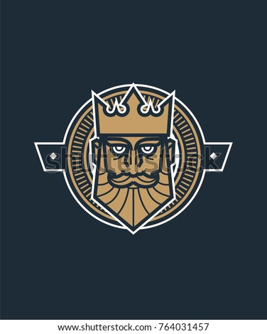 King card vector illustration. Line art