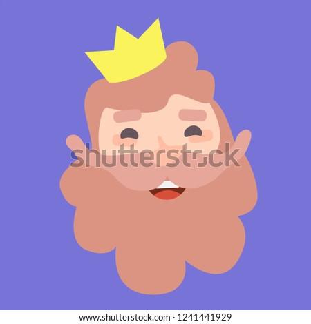 King Caspar. Christmas ornament isolated vectorized. Magi, wise man