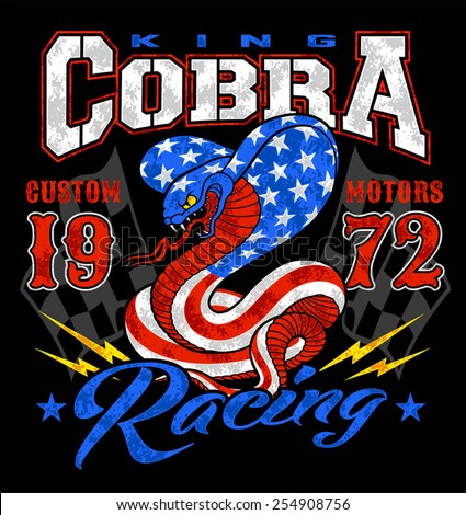 king cobra motor racing graphic