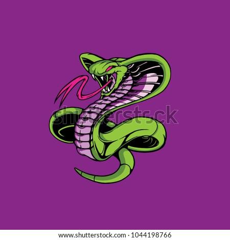 king cobra snake vector