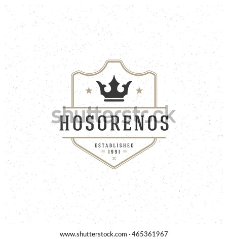 king crown logo template