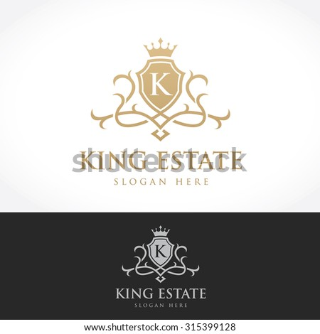 King Estate, Luxury Logo design for Hotel, Home and property services